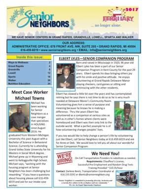 February 2017 Senior Center Newsletter