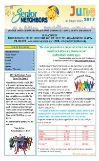 June 2017 Senior Center Newsletter