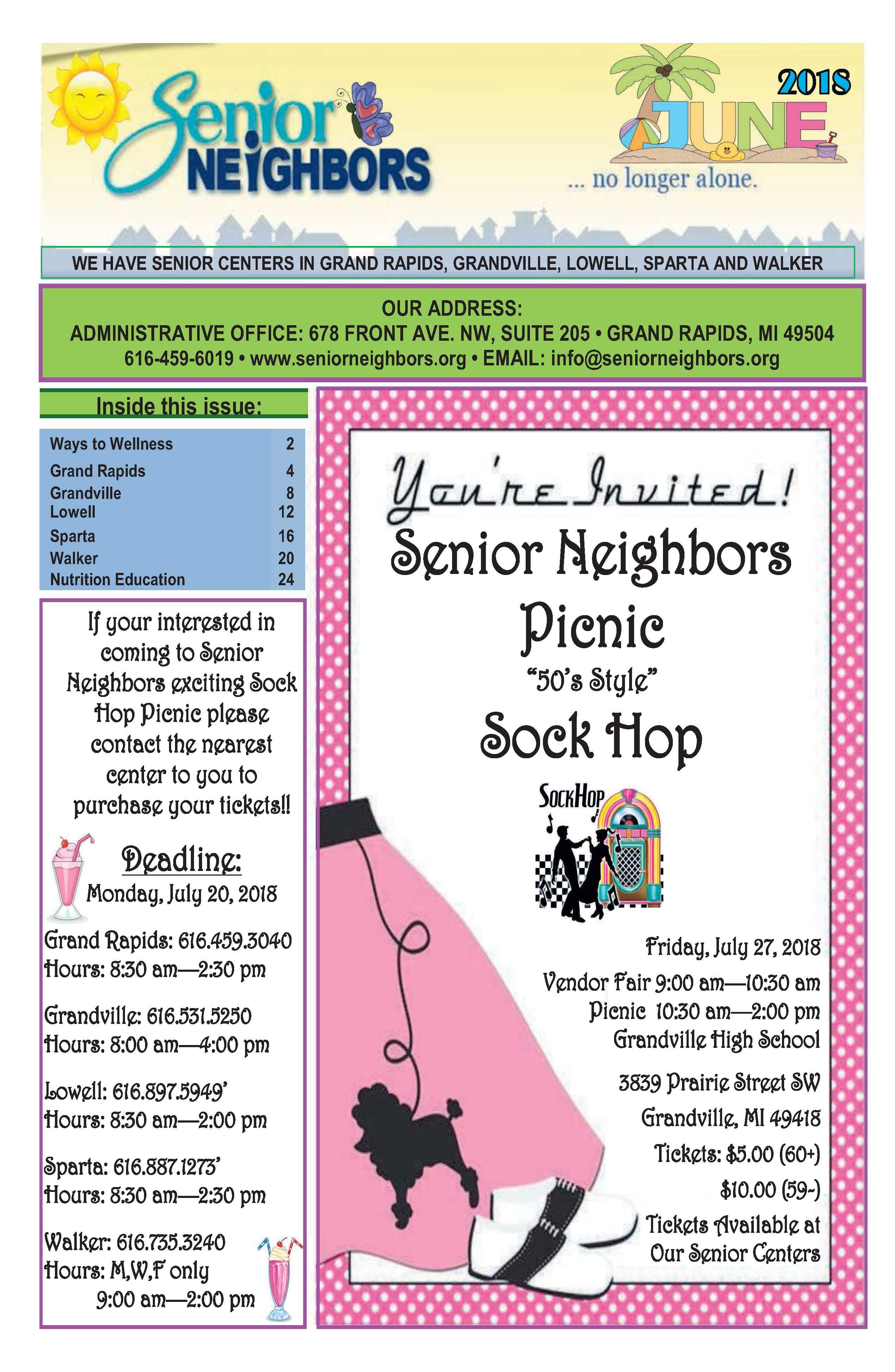 June 2018 Senior Center Newsletter