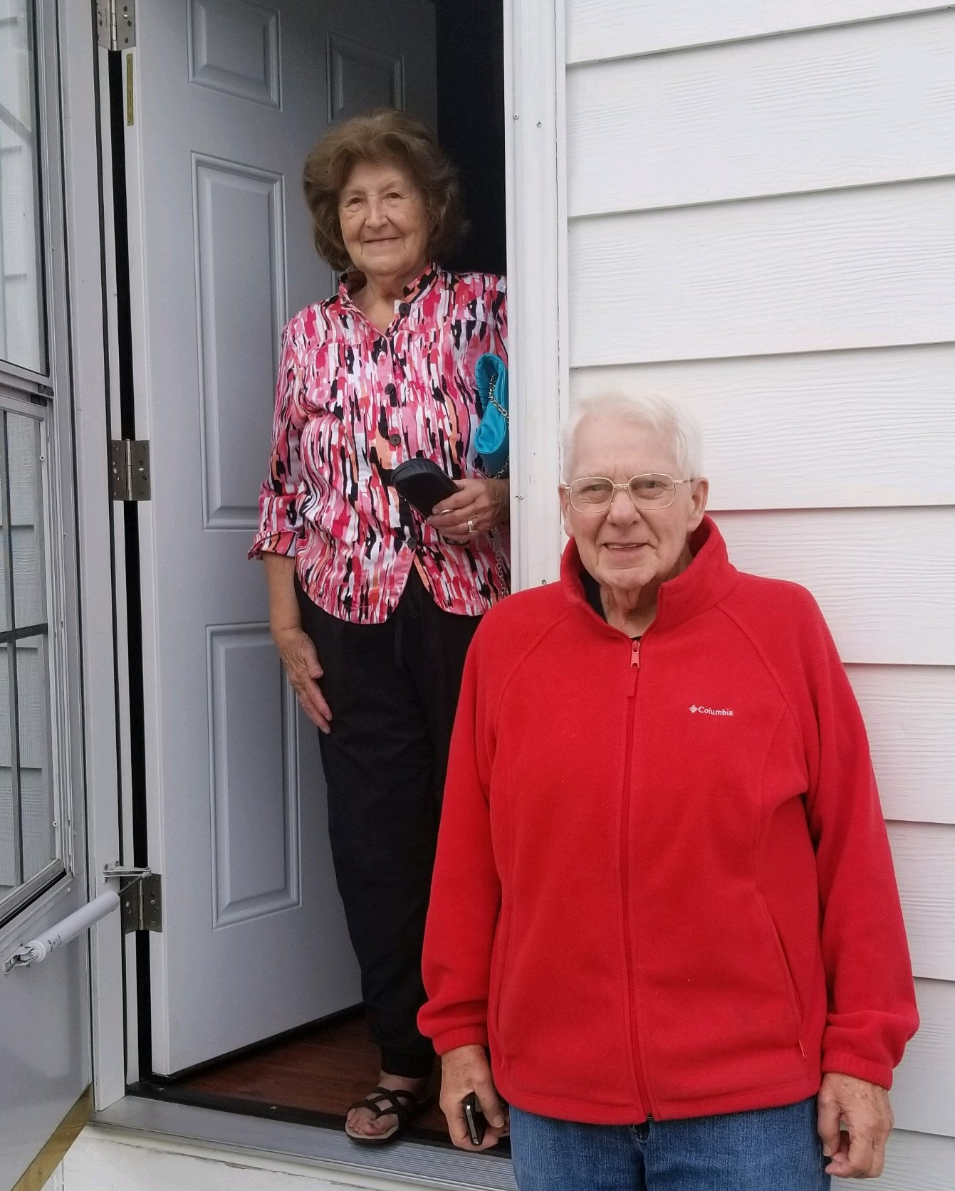 Mary and Robert with their new door