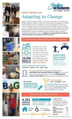 2020 Impact Report Senior Neighbors Newsletter