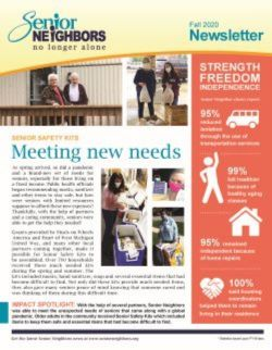 Fall 2020 Senior Neighbors Newsletter