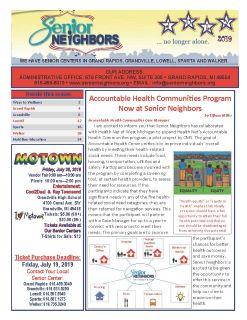 July 2019 Senior Center Newsletter