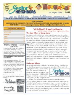 November 2019 Senior Center Newsletter