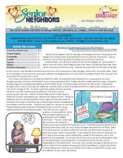 February 2019 Senior Center Newsletter