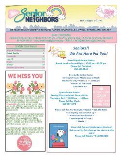 May 2020 Senior Center Newsletter