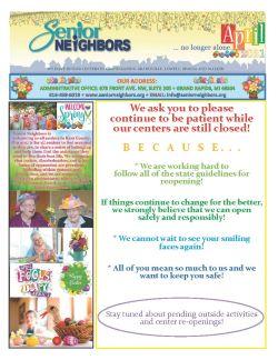 April 2021 Senior Center Newsletter