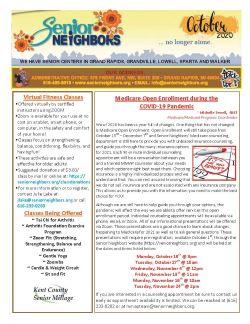 October 2020 Senior Center Newsletter